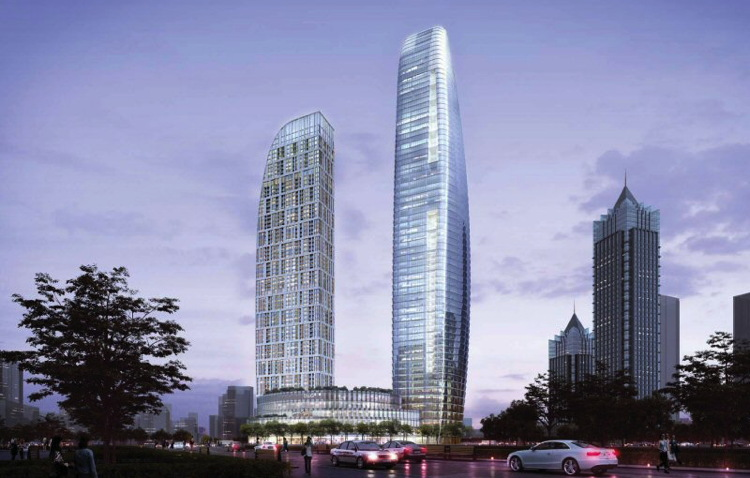 Rendering of the Raffles Suzhou Hotel