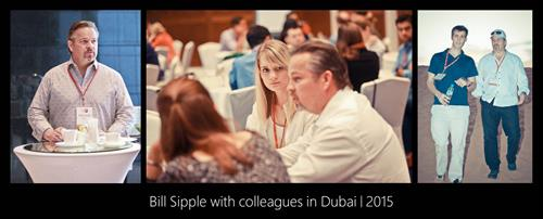 Bill Sipple with colleagues in Dubai 2015