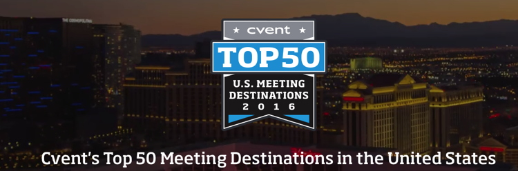 Image from Cvent 2016 List of Top 50 Meeting Destinations in the United States - source cvent.com