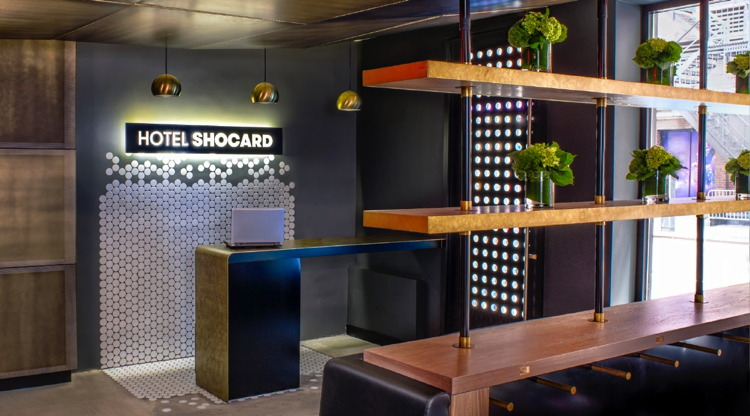 Lobby at the Hotel Shocard in Times Square