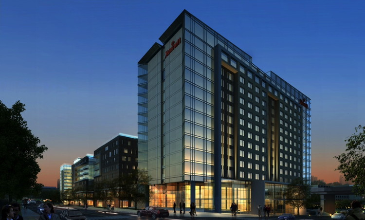 Rendering of the Marriott Capitol District Hotel