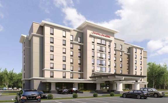 Rendering of the Hampton Inn & Suites by Hilton Atlanta Perimeter Dunwoody Hotel