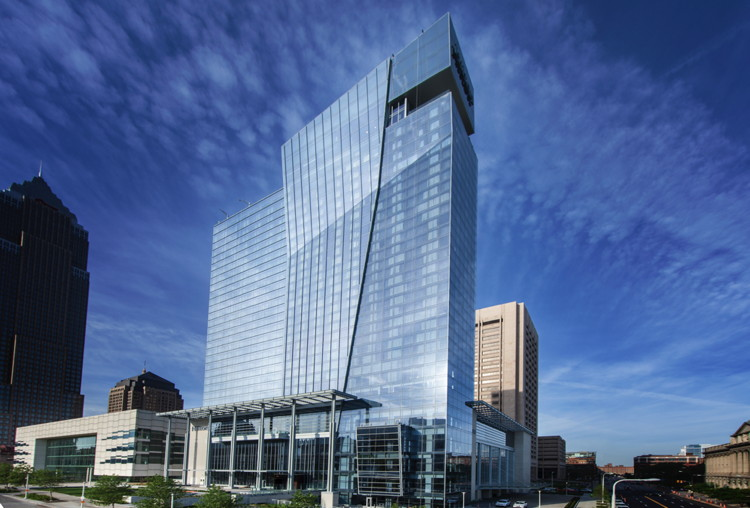 Rendering of the Hilton Cleveland Downtown Hotel