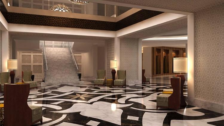 Lobby at the Conrad Makkah Hotel