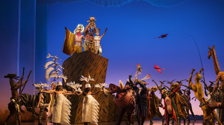 Picture from the THE LION KING  perfromance at Shanghai Disney Resort