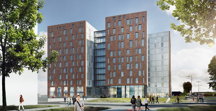 Rendering of the NOVUM Select Hotel City Harbour Amsterdam