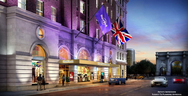 Rendering of the Hard Rock Hotel London