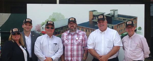 Creative Boutique Hotel Development Team – (L-R) Kimberly Christner, Mike Cagle, Todd Morgan, Travis Milton, Craig Larson, Hal Craddock