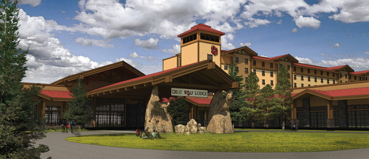 Rendering of the Great Wolf Lodge Georgia