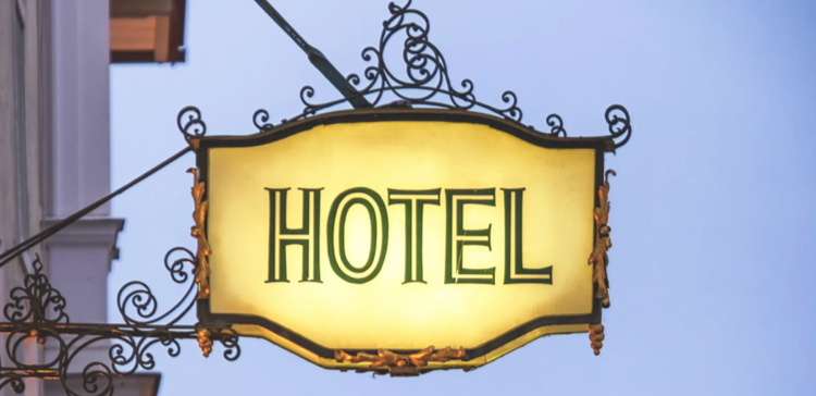 Hotel Sign - Image from Revinate/Colliers report