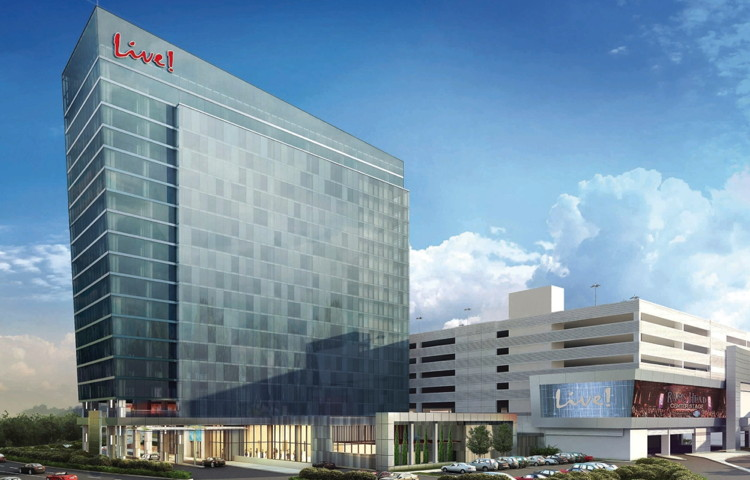 Rendering of the Live! Hotel Maryland