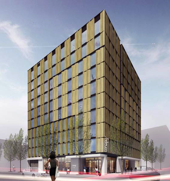 Rendering of the Canopy by Hilton Portland Pearl District