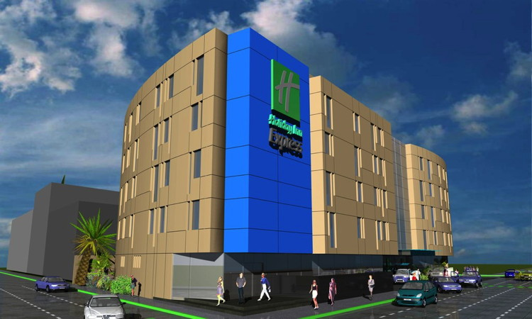 Rendering of the Holiday Inn Express Mexico Aeropuerto Hotel