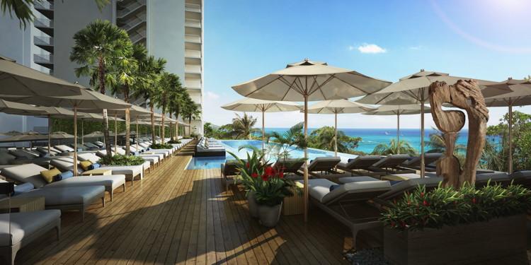 'Alohilani Resort at Waikiki Beach Infinity Pool Rendering