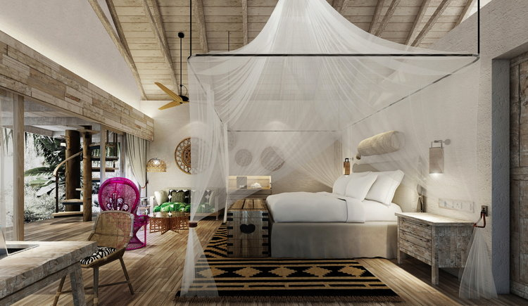 Guestroom at the Desroches Island Resort