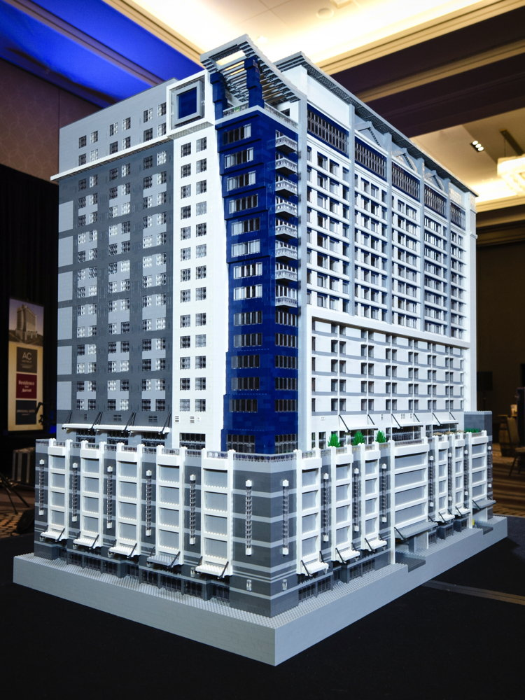 LEGO Model of First Tri-Branded Marriott Hotel in U.S.