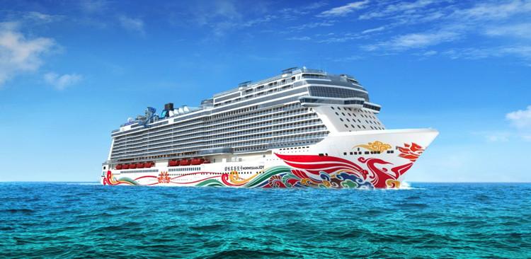 Rendering of the Norwegian Joy cruise ship