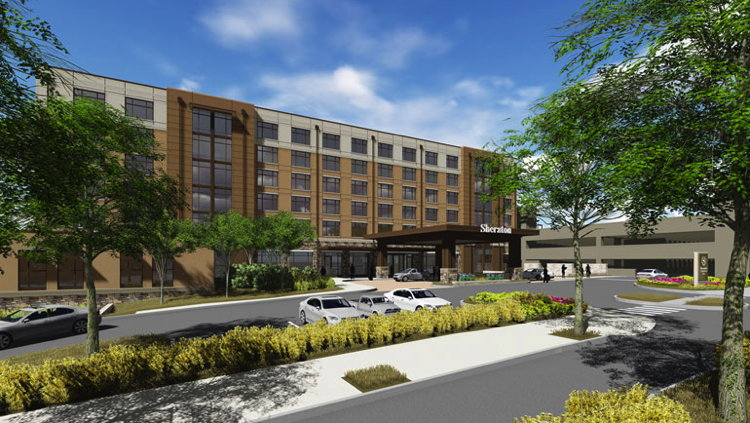 Rendering of the Sheraton Georgetown Texas Hotel & Conference
