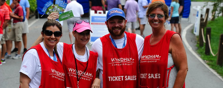Volunteers at the Wyndham Championship