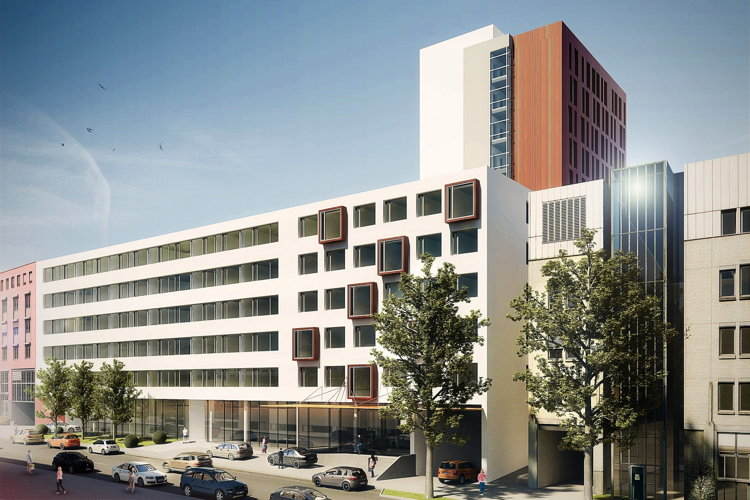 Rendering of the NOVUM Style Hotel to Open 2017 in Stuttgart, Germany
