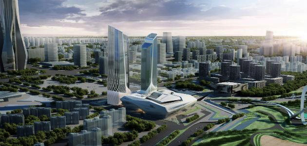 Rendering of the Jumeirah Guangzhou Hotel