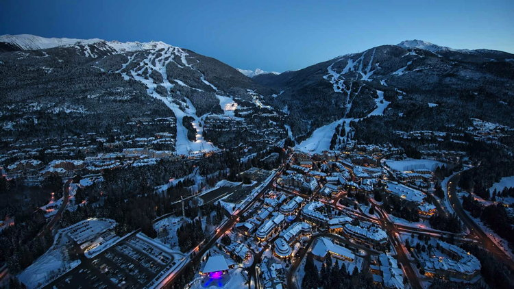 Whistler Blackcomb - aerial view
