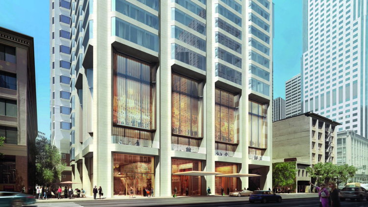 Rendering of the Waldorf Astoria San Francisco Hotel