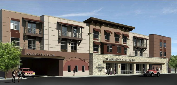 Rendering of the Homewood Suites by Hilton in Moab, Utah