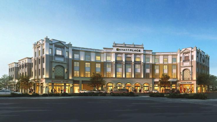 Rendering of the Hyatt Place Salt Lake City/Farmington/Station Park Hotel