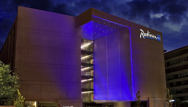Radisson Blu Santiago La Dehesa Hotel - Exterior at night