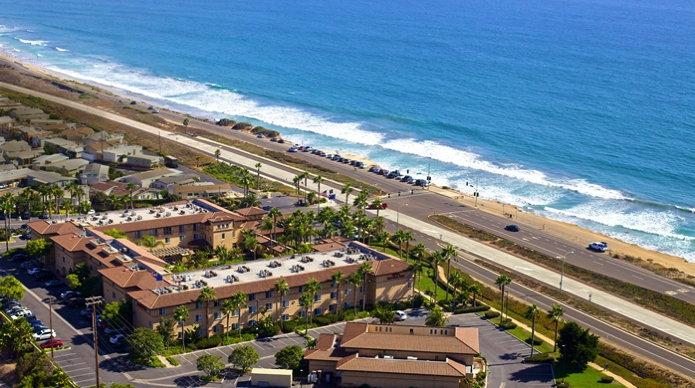 Hilton Garden Inn Carlsbad Beach Hotel aerial view