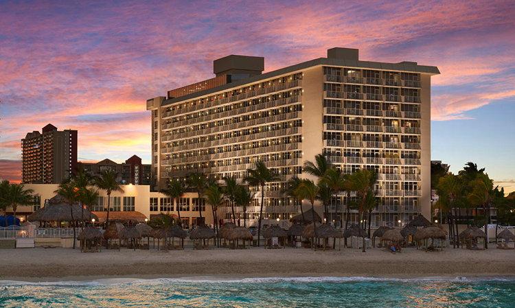 Newport Beachside Hotel & Resort - view from ocean