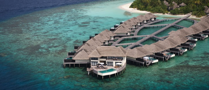 Outrigger Konotta Maldives Resort aerial view