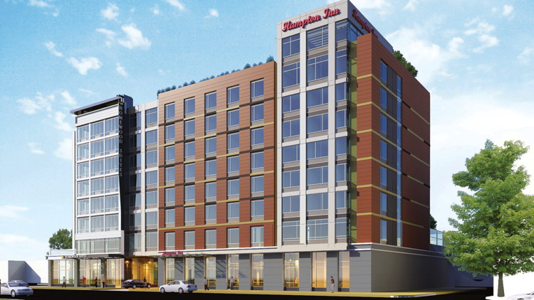 Rendering of the Hilton Worldwide Dual-Brand Property in Washington D.C.