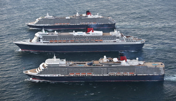 Queen Mary 2, Queen Elizabeth and Queen Victoria