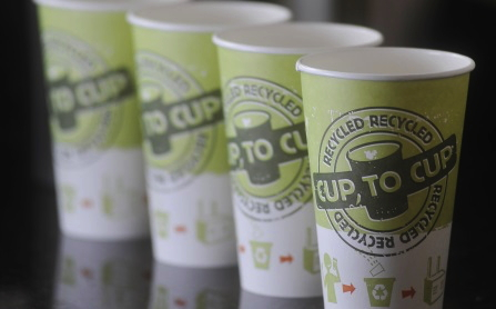 Recyclable paper coffee cups