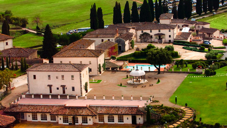 La Bagnaia Golf & Spa Resort Siena in Tuscany - Aerial view