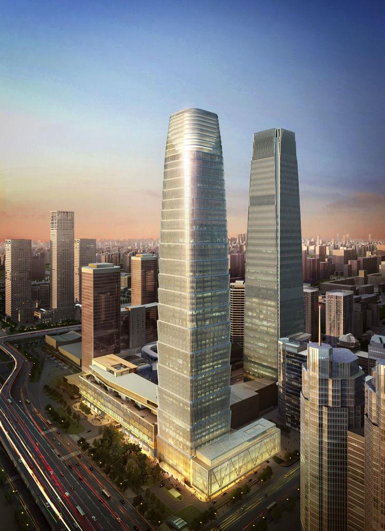 Rendering of the Hotel Jen Beijing