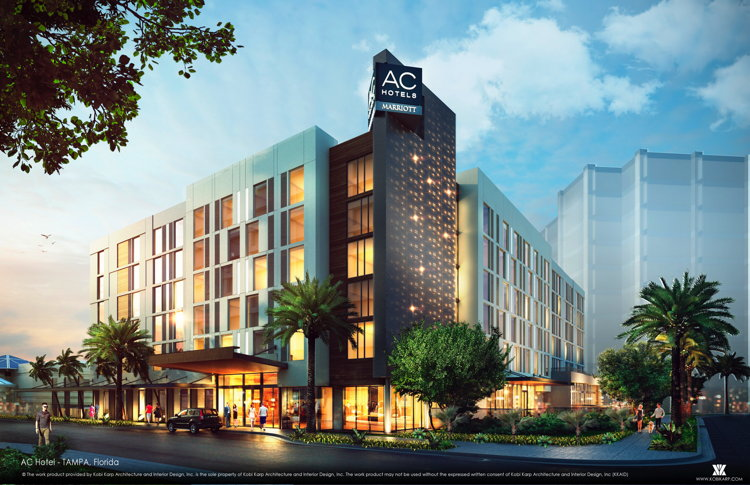Rendering of the AC Hotel Tampa