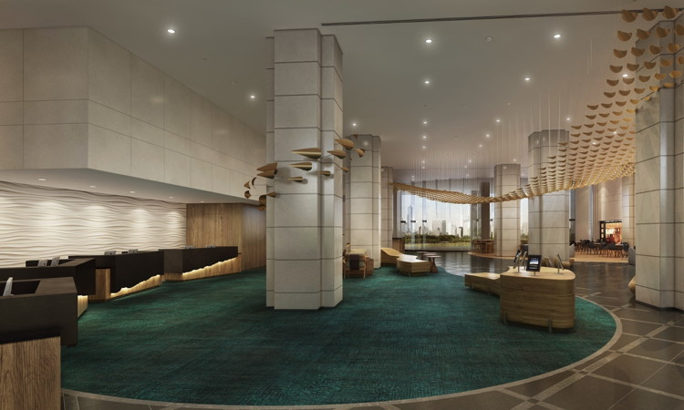 Hawaii Prince Hotel Waikiki - Rendering of new lobby