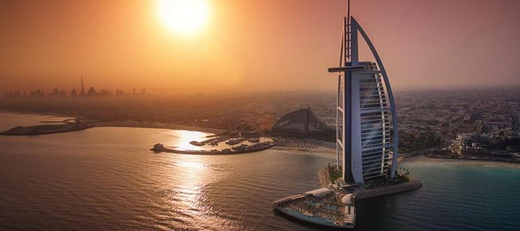 Burj Al Arab Jumeirah - Aerial view