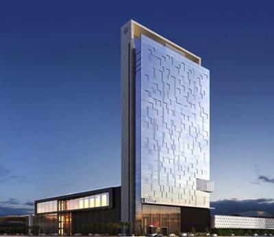 Rendering of the Hilton Santiago Las Condes Hotel