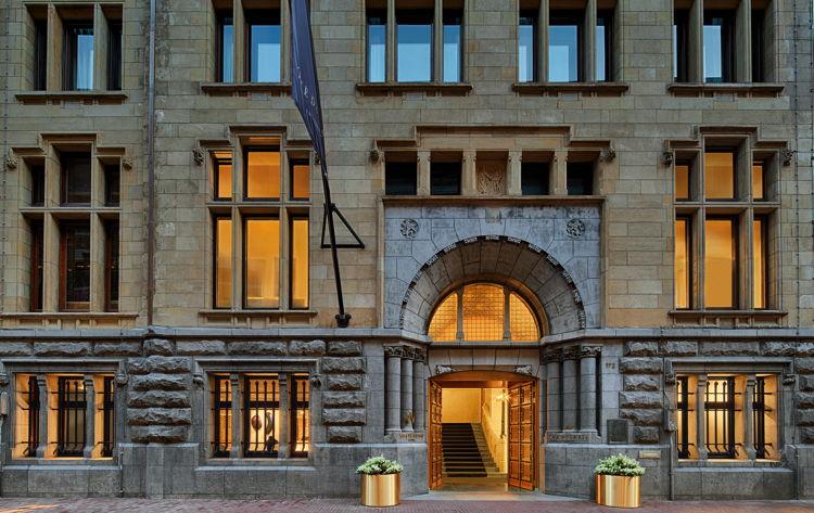 W Amsterdam Hotel BANK building entrance