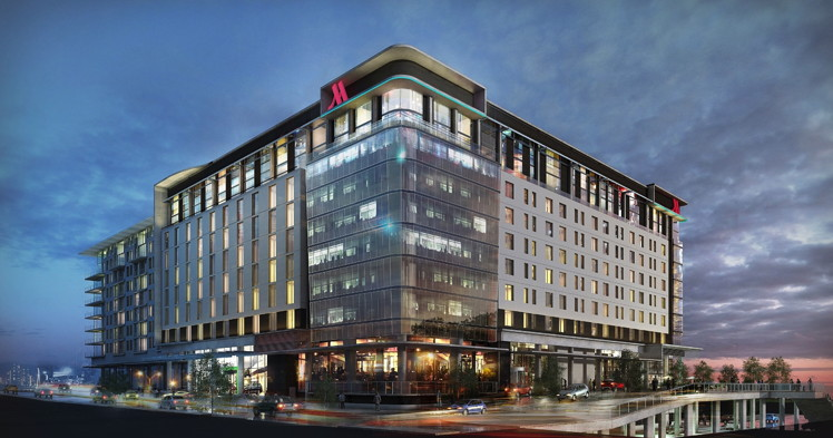 Rendering of the Johannesburg Marriott Hotel Melrose Arch