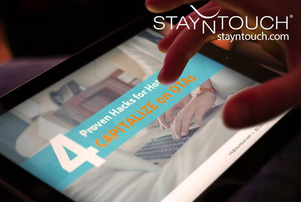 Promotional image for ebook - Four Proven Hacks for Hotels to Capitalize on OTA-Generated Bookings