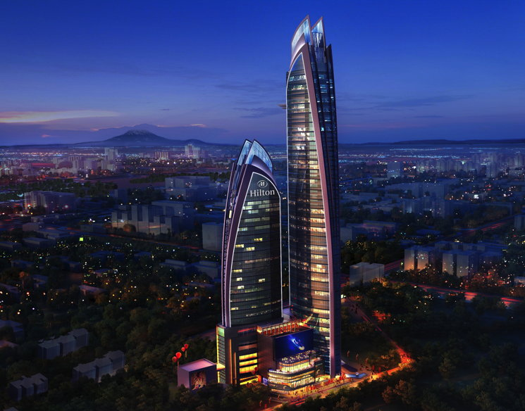 Rendering of the Hilton Nairobi Upper Hill Hotel