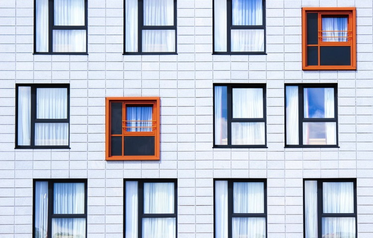 Windows of an apartment building