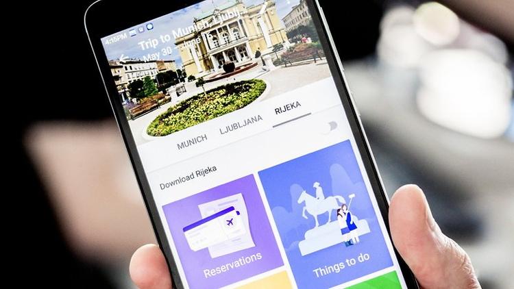 Google Trips screenshot on mobile phone