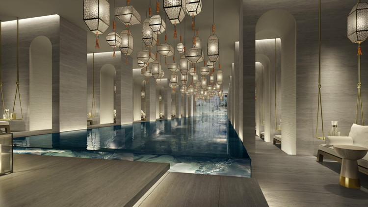 Rendering of the Four Seasons Hotel Kuwait at Burj Alshaya - Lobby