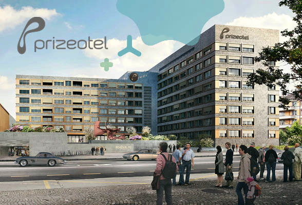 Rendering of the Rezidor and Prizeotel Joint Hotel Project in Bern, Switzerland